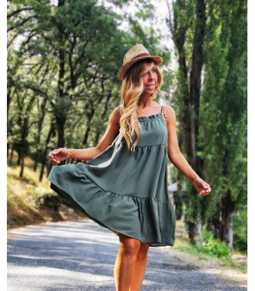 Vestido Rebeca Verde Militar